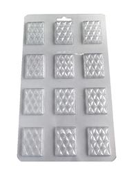 Молд пластиковый плитка шоколада микро D