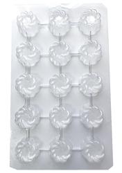 Молд пластиковый Конфета №18 (с узором)