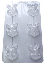 Молд пластиковий Свинка №2 (з бантиком)