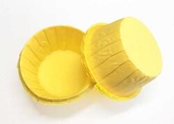 Форма паперова для кексів з бортиком жовта, 55 * 35 мм 25 шт