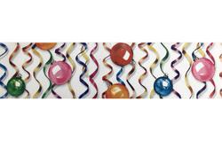 Бордюрна стрічка з малюнком, ширина 6 см, довжина 1 м (Кульки)