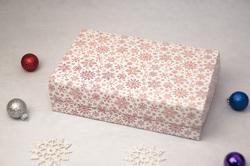 Коробка для еклеров, зефира, печенья и прочих десертов 230*150*60 мм Снежинка