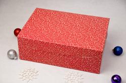 Упаковка на 6 кексов 255х180х90 мм Праздничная красная