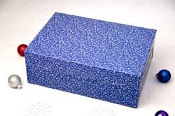 Упаковка на 6 кексов 255х180х90 мм Праздничная синяя
