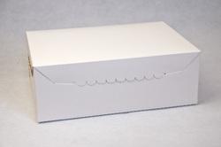 Упаковка на 6 кексів 255х180х90 мм біла крейдована