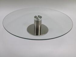 Подставка крутящаяся для работы с тортом 300*70мм №4 Стеклянная