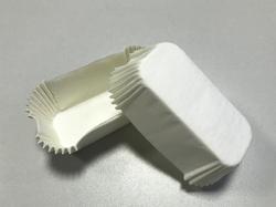 Форма прямоугольня для эклеров, пирожных - белая 80х35x30 50шт.