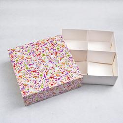 Универсальна коробка Радуга 160х160х55 мм для печенья, зефира, конфет, макаронсов и прочего, тип пенал с ложементом