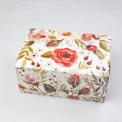 """Коробка-контейнер для тортів, чізкейків, тістечок """"Акварель"""" 180 * 120 * 80 мм"""