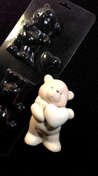 Молд пластиковий 3 D Ведмедик з серцем