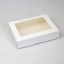 Коробка для печенья,пряников с окошком 192х148х40 мм мелованный картон