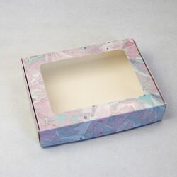 Коробка для печенья,пряников с окошком 192х148х40 мм Акварель