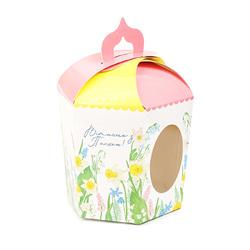 Коробка пасхальная 145х165х160 мм №1 Цветы