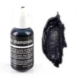 Гелевий барвник Chefmaster Liqua-Gel Black Diamond (Чорний діамант) 21 м
