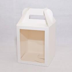 Коробка для пряникового будиночка, подарунків 165х165х200 мм біла