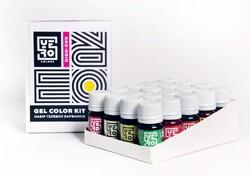Набір барвників гелевих Yero 40 кольорів по 10г.