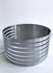 Форма раздвижная для резки бисквита 6 прорезей №1 от 160мм до 200мм