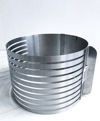 Форма раздвижная для резки бисквита 9 прорезей №3 от 160мм до 200мм