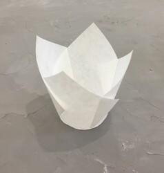 """Форма паперова для кексів """"Тюльпан"""" білий, 50 * 80 мм 25 шт"""