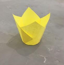 """Форма паперова для кексів """"Тюльпан"""" жовтий, 50 * 80 мм 25 шт"""
