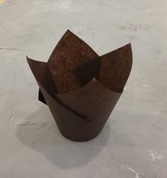 """Форма паперова для кексів """"Тюльпан"""" коричневий, 50 * 80 мм 25 шт"""