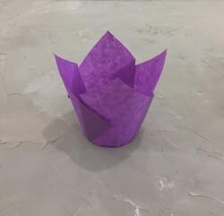 """Форма бумажная для кексов """"Тюльпан"""" фиолетовый, 50*80 мм 25 шт"""