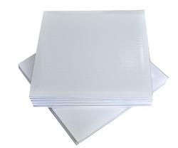 Поднос квадратный 25х25 см бел/бел