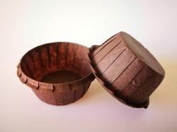 Форма бумажная для кексов с бортиком коричневая, 55*35 мм 25 шт