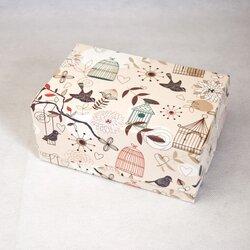 """Коробка-контейнер для тортов, чизкейков, пирожных """"Птички"""" 180*120*80 мм"""