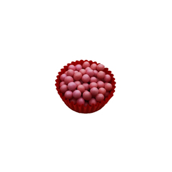 Декор из шоколада со вкусом клубники - Callebaut Crispearls Strawberry 100г.