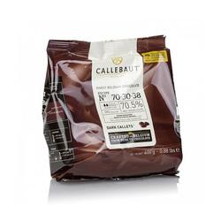 """Шоколад чёрный """"Callebaut Strong"""" 70,5 % - Оригинальная упаковка 0,4 кг (70-30-38)"""