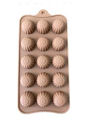 Форма силиконовая для конфет, льда Ромашка на планшетке