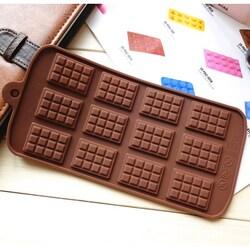 Форма силіконова для цукерок, льоду Шоколадка мікро на планшетці
