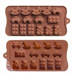 Форма силіконова для цукерок, льоду Детский-Лего на планшетці