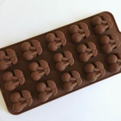 Форма силіконова для цукерок, льоду Вишеньки на планшетці