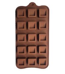 Форма силиконовая для конфет, льда Квадратик со срезом на планшетке
