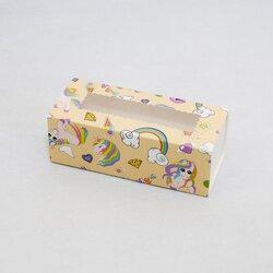Коробка для Макаронс Единорог 141х59х49