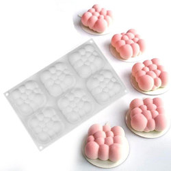 Форма силиконовая для евродесертов mini Cloud 6 ед