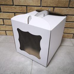 Коробка для торта 250х250х300 с окном