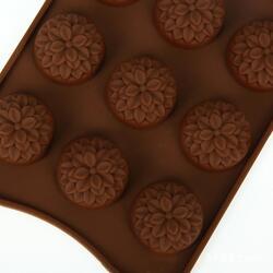 Форма силиконовая для конфет, льда Георгин на планшетке