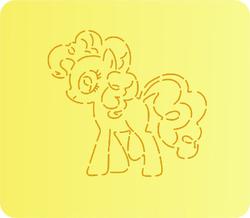 Трафарет + вырубка Маленькие пони № 2
