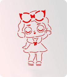 Трафарет + вирубка Лялька Лол № 1