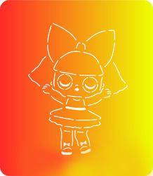Трафарет + вырубка Кукла Лол № 8