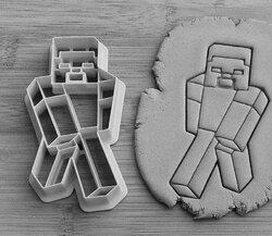 Вырубка для пряника со штампом Майнкрафт №1