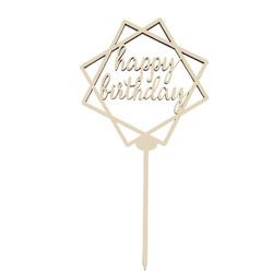 Топпер Happy Birthday №1 13,5х13,5 см
