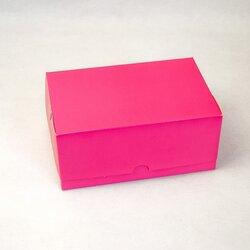 """Коробка-контейнер для тортов, чизкейков, пирожных """"Розовая"""" 180*120*80мм"""