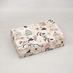 Коробка для еклеров, зефира, печенья и прочих десертов 230*150*60 мм Птички