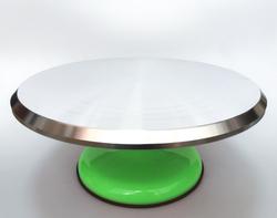Подставка крутящаяся для работы с тортом 300х150мм №5 Зеленая