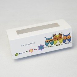 Коробка для Макаронс Совы 141х59х49