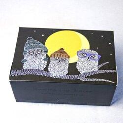 """Коробка-контейнер для тортов, чизкейков, пирожных """"Совы"""" 180*120*80мм"""